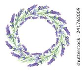 provence lavender wreath | Shutterstock . vector #241762009