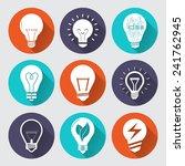 set vector light bulb for... | Shutterstock .eps vector #241762945