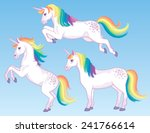 a set of three cartoon unicorns ... | Shutterstock .eps vector #241766614