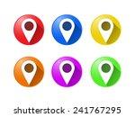 gps marker sign | Shutterstock .eps vector #241767295