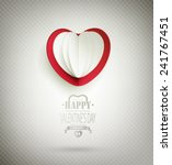 valentine's day background with ... | Shutterstock .eps vector #241767451