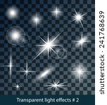 vector glowing stars  lights... | Shutterstock .eps vector #241768639