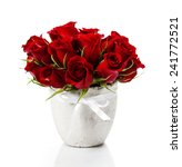 Beautiful Red Roses In A Vase...