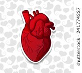 drawing the human heart on... | Shutterstock .eps vector #241774237
