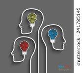 human head creating a new idea. ...   Shutterstock .eps vector #241785145