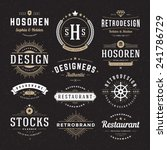 Retro Vintage Insignias or Logotypes set. Vector design elements, business signs, logos, identity, labels, badges and objects.  | Shutterstock vector #241786729