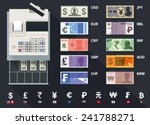 vector cash register and... | Shutterstock .eps vector #241788271