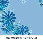 winter abstract background design - stock photo