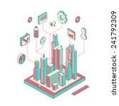 isometric vector illustration... | Shutterstock .eps vector #241792309
