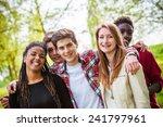 diverse group of friends... | Shutterstock . vector #241797961