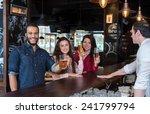perfect beer party. portrait of ... | Shutterstock . vector #241799794