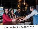 perfect beer party. portrait of ... | Shutterstock . vector #241801015