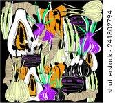 vector vegetables background   Shutterstock .eps vector #241802794