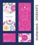 vector vibrant floral scaterred ... | Shutterstock .eps vector #241814371
