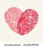 fingerprint love heart | Shutterstock .eps vector #241819945