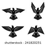 black silhouette collection of... | Shutterstock . vector #241820251