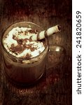coffee cream chocolate cookies... | Shutterstock . vector #241820659