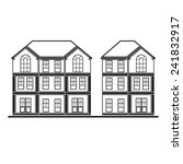 set of drawing houses flat... | Shutterstock .eps vector #241832917