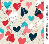 seamless pattern with hearts | Shutterstock .eps vector #241833451