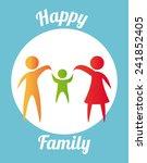 happy family | Shutterstock .eps vector #241852405