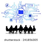 vector of business database | Shutterstock .eps vector #241856305