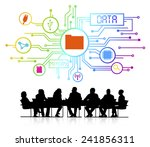 vector of business database | Shutterstock .eps vector #241856311