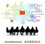 vector of business database   Shutterstock .eps vector #241856311