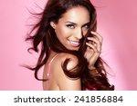 beautiful woman posing in... | Shutterstock . vector #241856884