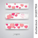 valentines day abstract... | Shutterstock .eps vector #241857904