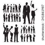 business people silhouette... | Shutterstock .eps vector #241861987