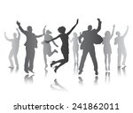 people celebrating | Shutterstock .eps vector #241862011