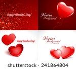 set happy valentine's day... | Shutterstock .eps vector #241864804