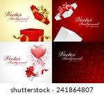 set happy valentine's day... | Shutterstock .eps vector #241864807