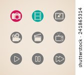 flat icons for web and mobile... | Shutterstock . vector #241865314