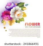 colorful flowers in zhostovo... | Shutterstock .eps vector #241866451