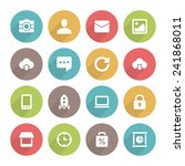 flat icons vector set and long... | Shutterstock .eps vector #241868011