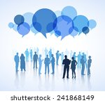 business crowd | Shutterstock .eps vector #241868149