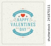 happy valentine's day greeting...   Shutterstock .eps vector #241870111