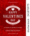 happy valentines day party... | Shutterstock .eps vector #241870975