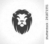 Lion Face Logo Emblem Template...