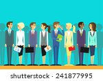 business people group human... | Shutterstock .eps vector #241877995