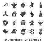 christmas icons  modern flat... | Shutterstock .eps vector #241878595