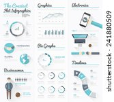 the craziest flat infographics... | Shutterstock .eps vector #241880509