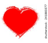 vector grunge heart . vintage...   Shutterstock .eps vector #241883377