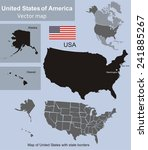 map of united states with state ... | Shutterstock .eps vector #241885267
