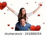 smiling young man carrying... | Shutterstock . vector #241888354