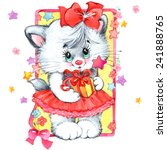 funny kitten. decor for kid... | Shutterstock . vector #241888765
