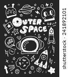 space elements doodles hand... | Shutterstock .eps vector #241892101