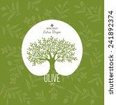 olive label  logo design. olive ... | Shutterstock .eps vector #241892374