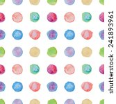 watercolour polka dot seamless... | Shutterstock .eps vector #241893961
